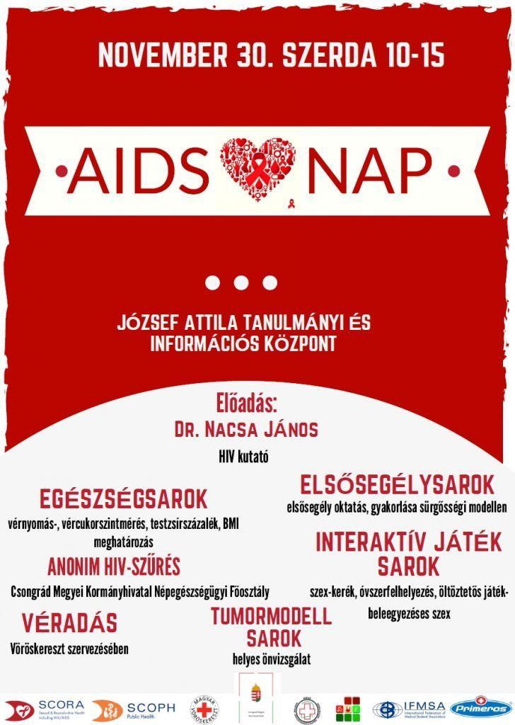 AIDS ellenes világnap  ingyenes anonim HIV szűrésse