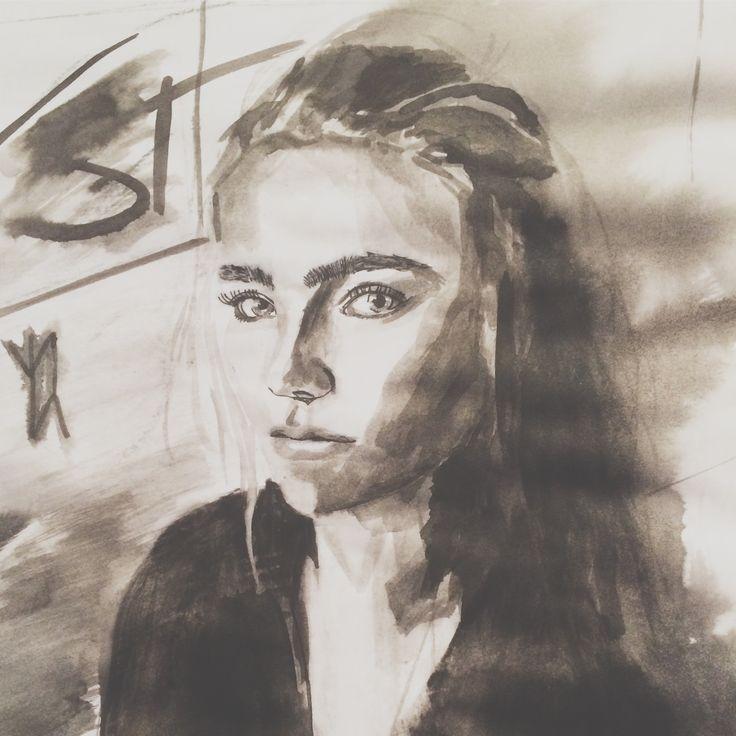 Strong mind. 2016. Acrylic on paper. #artbybitta