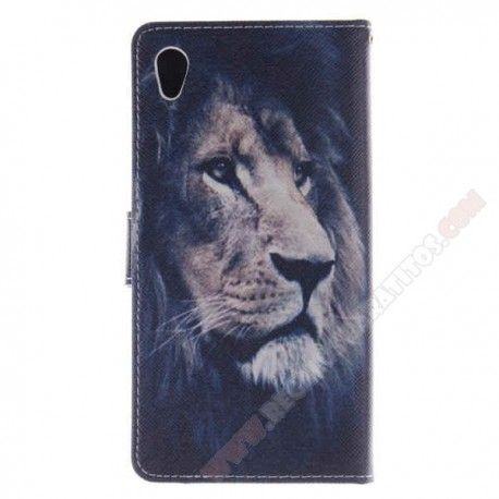 Funda Tapa diseño original león para tu móvil Xperia M4 Aqua