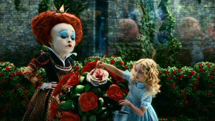 Alice in Wonderland Tim Burton quotPainting the roses