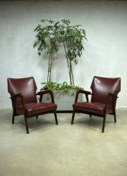 Vintage deense lounge fauteuils armchairs wingback chair Danish  www.bestwelhip.nl