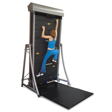 The Climbing Wall Treadmill - Hammacher Schlemmer. I want. I wonder if they make any taller ones?
