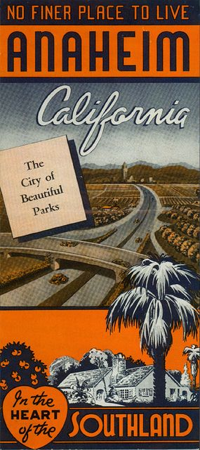 """1950s Anaheim Brochure """"No Finer Place To Live"""""""