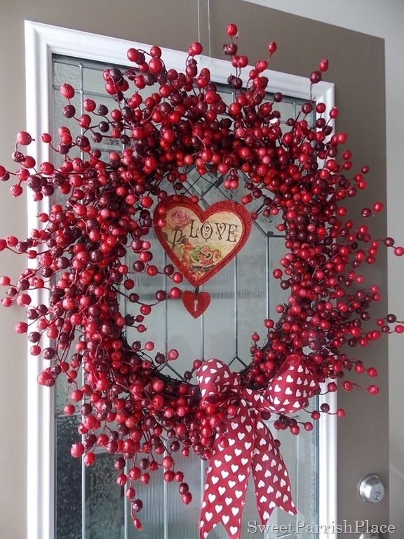 Making A Christmas Wreath Work For Valentineu0027s Day