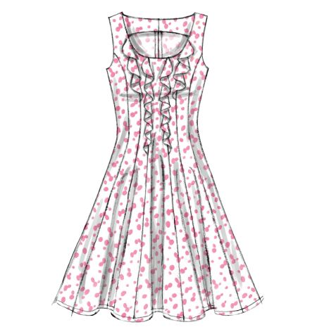 Next dress to sew (minus the ruffles) after I finish my Easter dress.