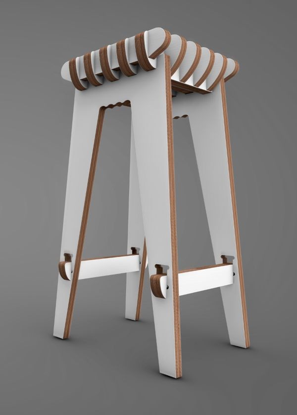Waffle Stool by Jacob Álvarez, via Behance