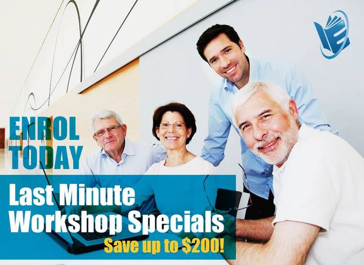Check out these Last Minute Savings off Upcoming Workshops! Save up to $200 if you enrol today >> http://www.inspireeducation.net.au/product-category/last-minute-specials/