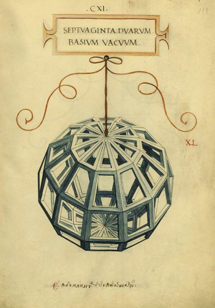 Ilustración del libro De divina proportione del matemático Luca Pacioli (1509) fue ilustrado por Leonardo Da Vinci. Las indagaciones de este científico versaron sobre las proporciones matemaáticas y sus aplicaciones a la geometría