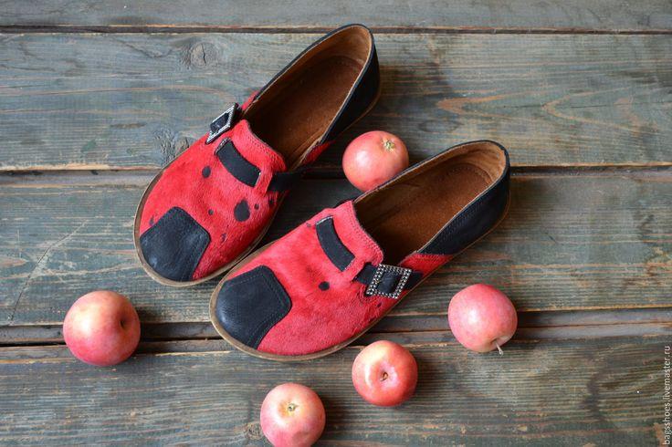 """Купить мокасины """"пони"""" - бордовый, черный, туфли женские, туфли ручной работы, мокасины, макасины"""