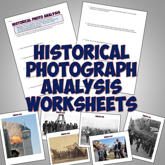 This historical photo analysis worksheet makes for a great back to school activity for history or to use in any unit! It features higher-level questions designed to get your students to analyze any historical photograph. Also included are 8 excellent open-source images from history to use as a back-to-school activity in history class or at any time throughout the year to encourage students to analyze photos with a critical eye.