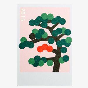 D-BROS 2015 年賀状 キカガクシリーズ / 松の木