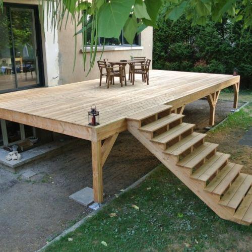 tecnhome-terrasse suspendue - 1.40 m - bois - meleze - 36m2 - le ban saint martin - moselle - lorraine