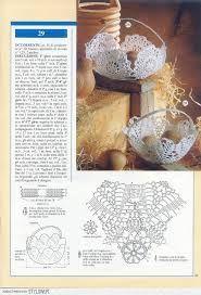 Znalezione obrazy dla zapytania koszyczki na szydełku schematy