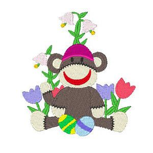 Machine Embroidery Designs - Funny Easter Monkeys at My Embroidery Design Studio