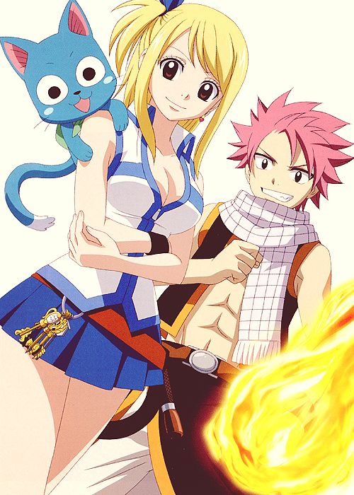 103 best images about natsu x lucy x happy on pinterest - Fairy tail happy and natsu ...