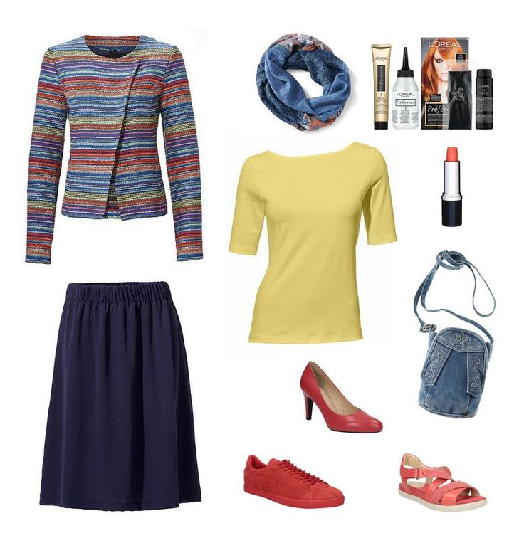 Oblečenie pre moletky - outfit pre moletky - pásikavé sako, žlté tričko, ačková sukňa pre moletky