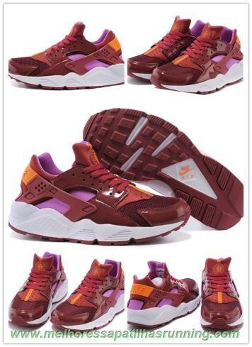 Mulheres Maroon Nike Air Huarache 683818-681