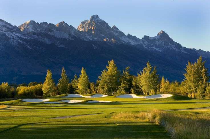 Jackson Hole Golf and Tennis Club - Wyoming - Views of Grand Teton National Park - Designed by Robert Trent Jones Jr.