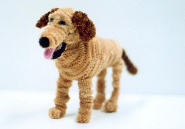 7 pipe cleaner dog http://hative.com/pipe-cleaner-animals-for-kids/