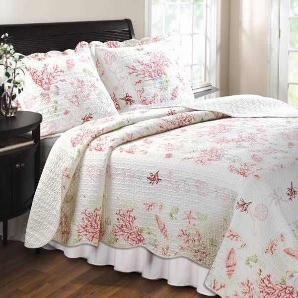 Red Coral Home Decor: Nautical Bedding, Nautical Comforters, Comforter Sets