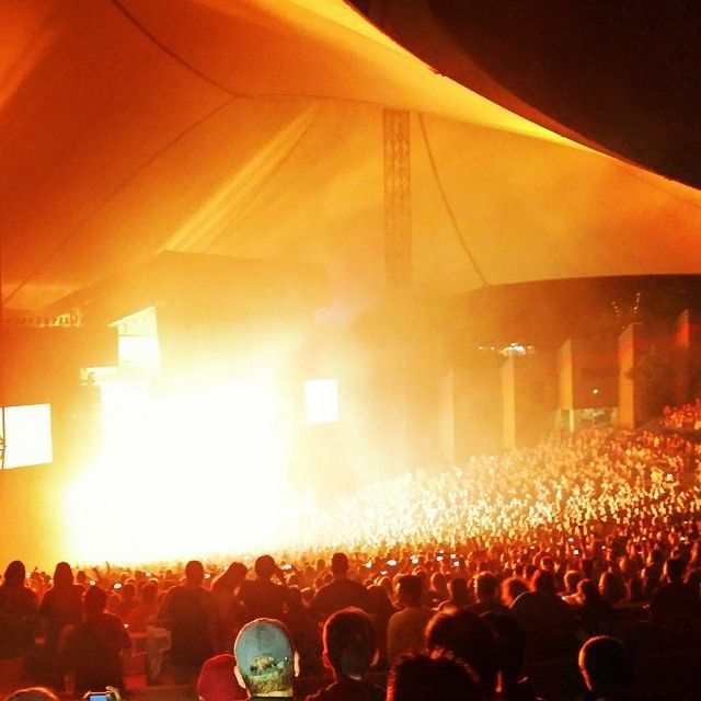 Quite a pyrotechnics to go with the great rock show that #MotleyCrue and #AliceCooper put on at the Shoreline Amphitheater in #MountainView #California #RedefiningAudio #concert #music