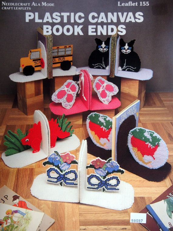 Plastic Canvas Book Ends By Needlecraft Ala Mode by NeedANeedle