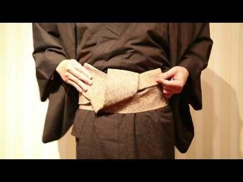 角帯 貝の口 男結び 締め方 Kazumi流 obi - YouTube