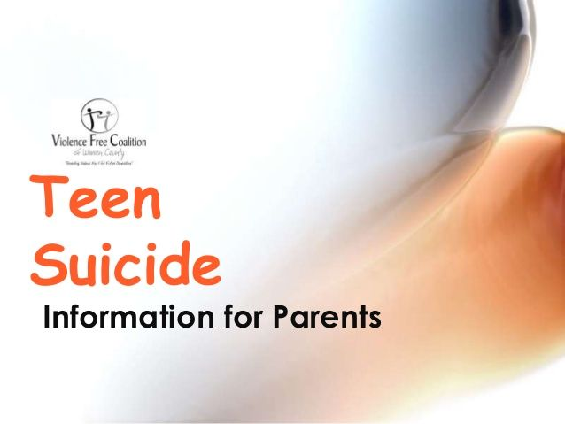 the important topic of teenage suicide From teenagers to college students, lgbt to the elderly, people struggling   just as it is important to understand what might lead to suicide, it is important to.