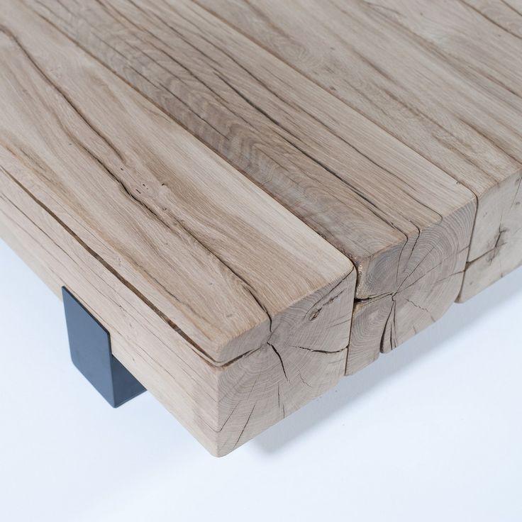 detail salontafel Beam van Rossum, 131cm x 100cm, qua hout mooi passend bij Woud eetkamertafel van Rossum
