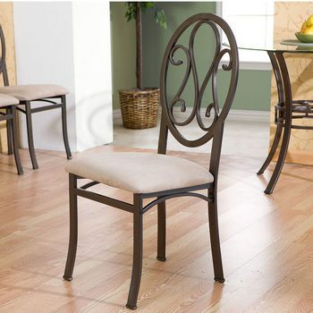 Home-Furnishings - 4 Piece Paisley Chair Set - Dark Brown Finish - by Holly
