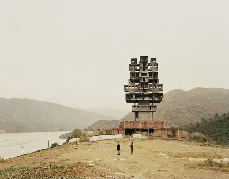 "Fengjie III (Monument to Progress and Prosperity), Chongqing Municipality 2010.  From Nadav Kander's ""Yangtze: The Long River,"" A photo essay on China's longest river.  © 2010 Nadav Kander."