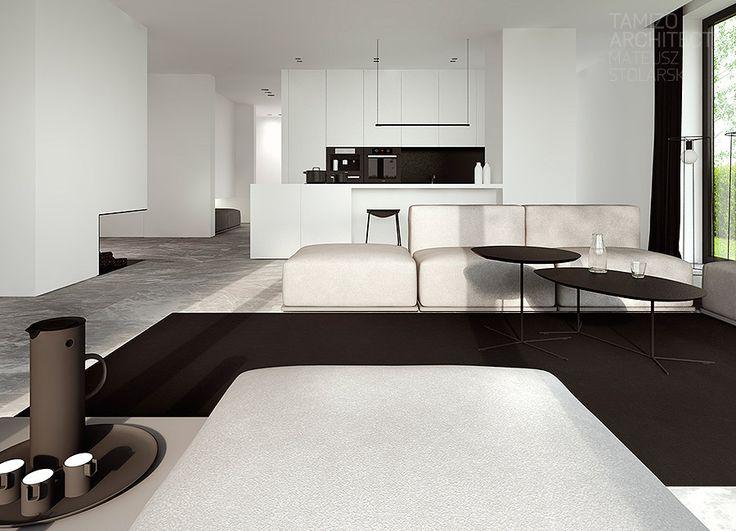 Single family house interior design, Pabianice.