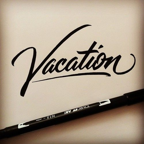 #lettering #handlettering #script #vacation (Taken with Instagram)