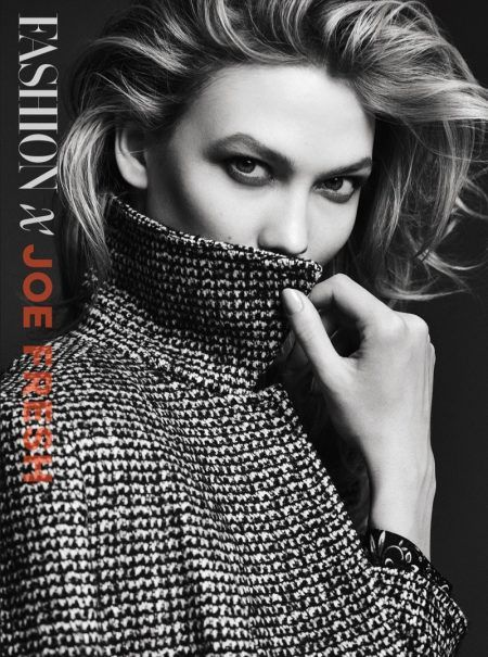 Karlie Kloss models Joe Fresh coat