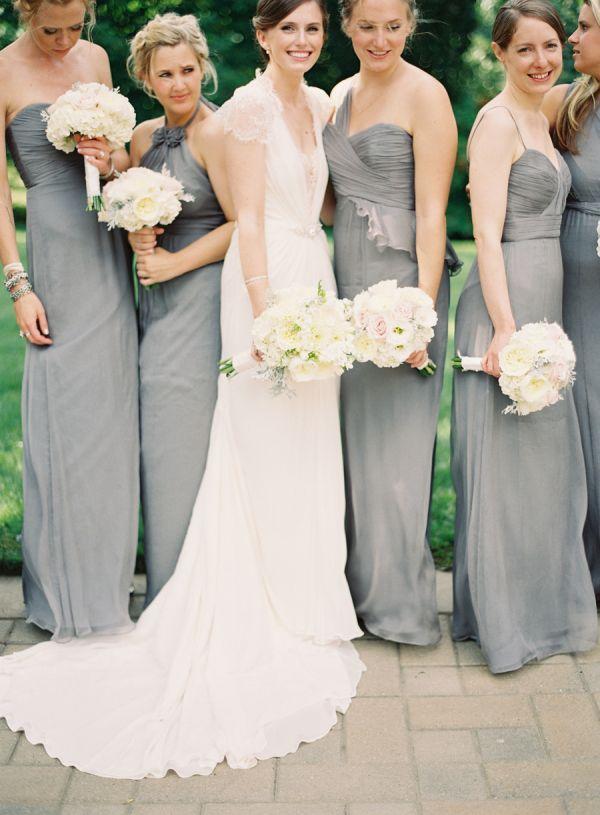 Nice Gray Amsale Bridesmaids