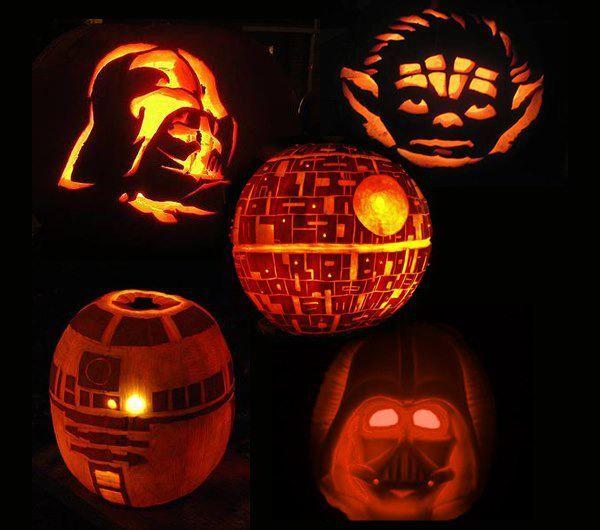 Pumpkin Carving Ideas Star Wars: Halloween Star Wars Pumpkins!