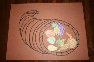 making thanksgiving cornucopia Includes both food and cornucopia templates