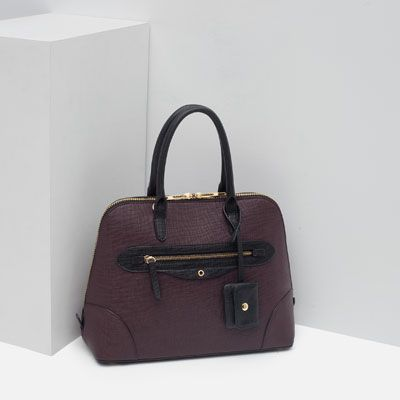 Image 3 of CITY BAG WITH ZIP DETAIL from Zara