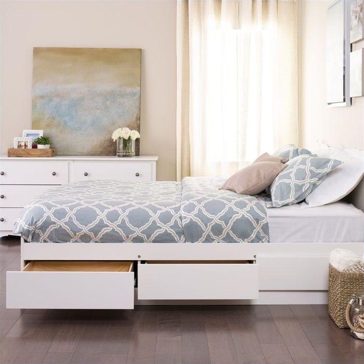 Lowest price online on all Prepac Monterey White Full Platform Storage Bed    WBD 5600. Best 25  Beds with storage ideas on Pinterest   Platform bed with