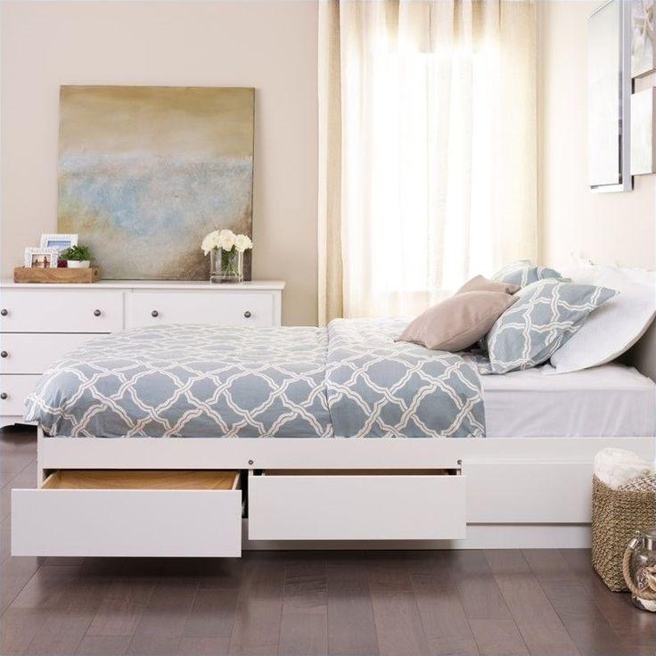 Lowest price online on all Prepac Monterey White Full Platform Storage Bed - WBD-5600