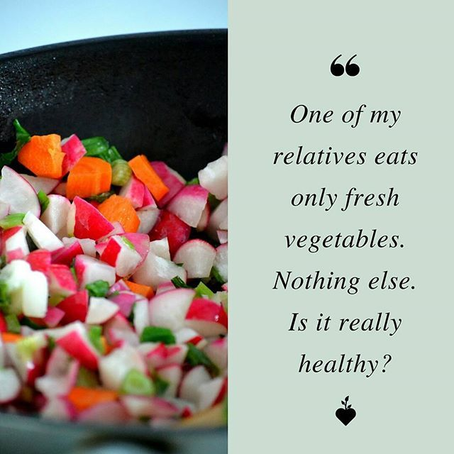 Everybody is different. Some people do well on a strict vegetarian diet, others not so well. I've met very unhealthy vegans who are depleted and very strong ones, same with meat eaters. Eating lots of fresh vegetables is generally good for health. I would recommend that your relative adds in some quality vegetable protein too such as raw nuts & seeds, organic tofu, tahini, hummus, fresh sprouts, beans, lentils and legumes.