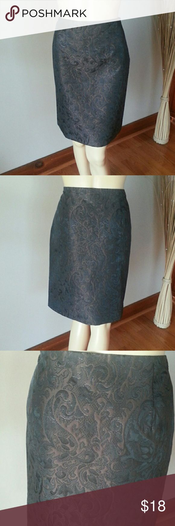 Worth Brown Pencil Skirt Dressy pencil skirt with lining . Worn once and in excellent condition . Size 8. Worth Skirts Pencil