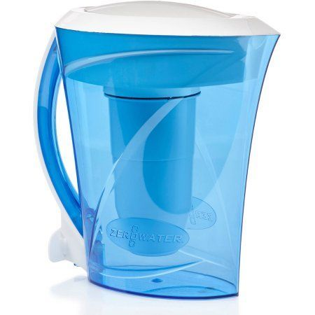 ZeroWater 8-Cup Pitcher with Free TDS Light-Up Indicator (Total Dissolved Solids), Blue