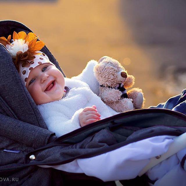 sunny child with teddy bear