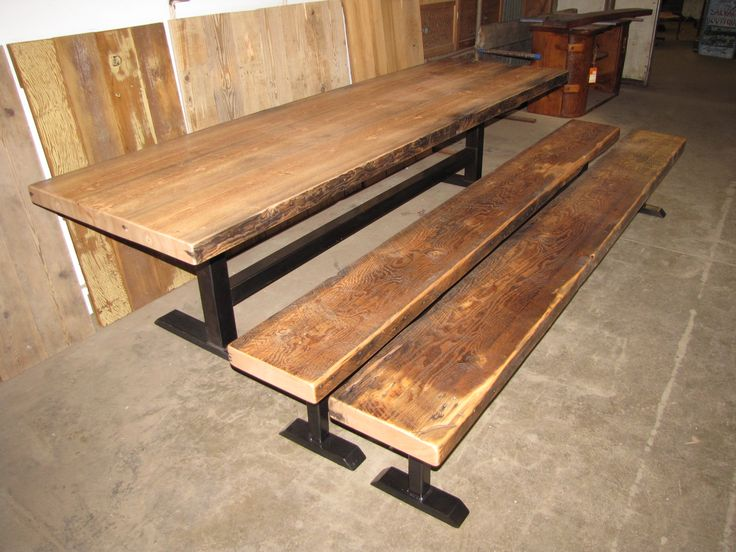 57 Best Reclaimed Wood Tables Images On Pinterest