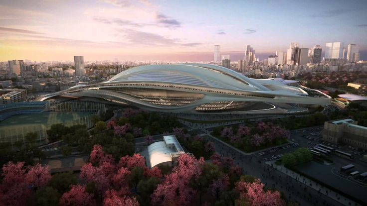 Japan National Stadium -- Tokyo 2020 Olympic Stadium -- by Zaha Hadid Ar...