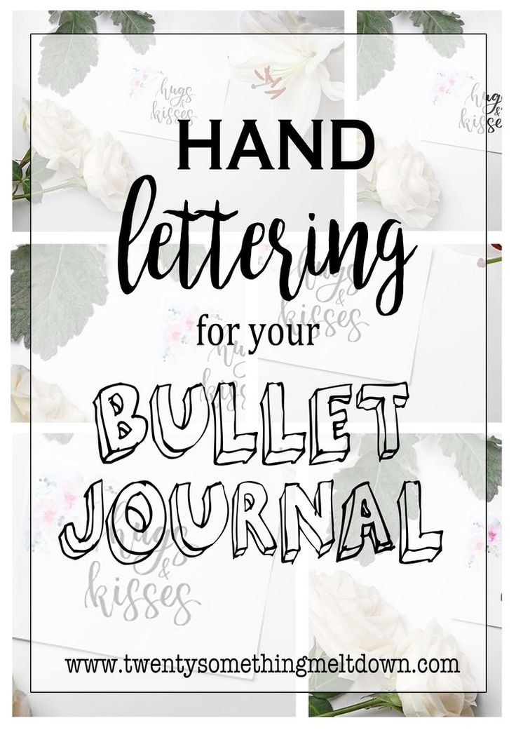 Hand Lettering Guide; Helpful Tips on how to hand letter for your bullet journal.