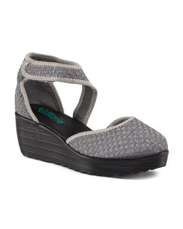 Woven Look On Ankle Strap Wedge - Sandals Under $25 - T.J.Maxx