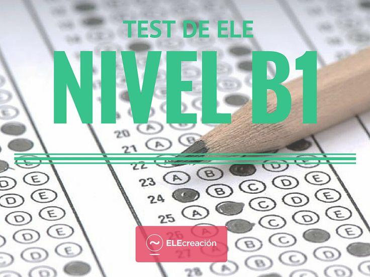 No hay aprendizaje sin evaluación, presentamos un test de ELE nivel B1 de 20, items centrado en gramática, vocabulario y léxico.