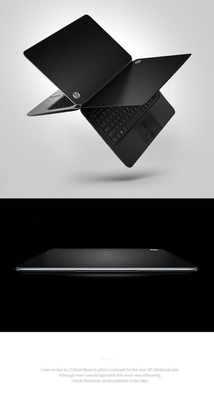 Hp Ultrabook™ on Behance